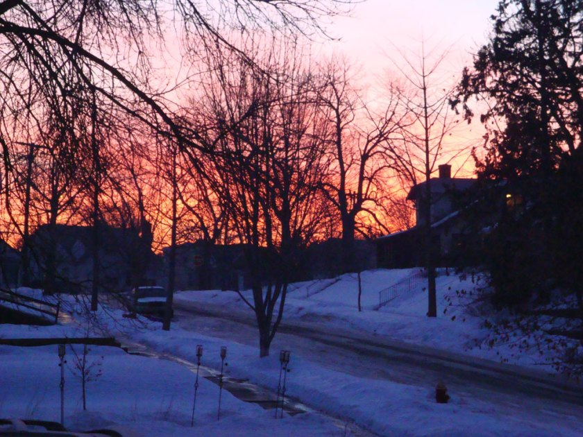 Sunrise up my road