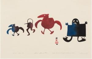 Pot Spirits by Sheouak Petaulassie, 1960, Stencil