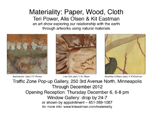 Materiality show postcard